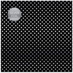 Carta Bella Paper - Dots and Stripes Collection - Silver Foil - 12 x 12 Paper with Foil Accents - Black