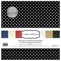 Carta Bella Paper - Dots and Stripes Collection - Silver Foil - 12 x 12 Collection Kit
