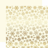 Carta Bella Paper - Snowflake Flurry Gold Foil Collection - Christmas - 12 x 12 Paper with Foil Accents - Cream