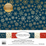 Carta Bella Paper - Snowflake Flurry Gold Foil Collection - Christmas - 12 x 12 Collection Kit