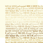 Carta Bella Paper - Love Story Gold Foil Collection - 12 x 12 Paper - Cream