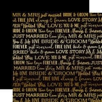 Carta Bella Paper - Love Story Gold Foil Collection - 12 x 12 Paper - Black