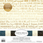 Carta Bella Paper - Love Story Gold Foil Collection - 12 x 12 Collection Kit