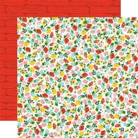 Carta Bella Paper - Farm To Table Collection - 12 x 12 Double Sided Paper - Floral Frenzy