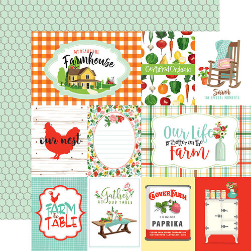Carta Bella Paper - Farm To Table Collection - 12 x 12 Double Sided Paper - Journaling Cards