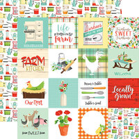 Carta Bella Paper - Farm To Table Collection - 12 x 12 Double Sided Paper - 3 x 3 Journaling Cards