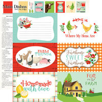 Carta Bella Paper - Farm To Table Collection - 12 x 12 Double Sided Paper - 6 x 4 Journaling Cards