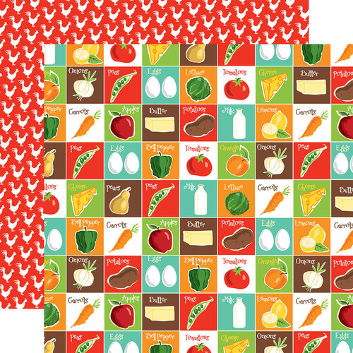 Carta Bella Paper - Farm To Table Collection - 12 x 12 Double Sided Paper - Pantry Party