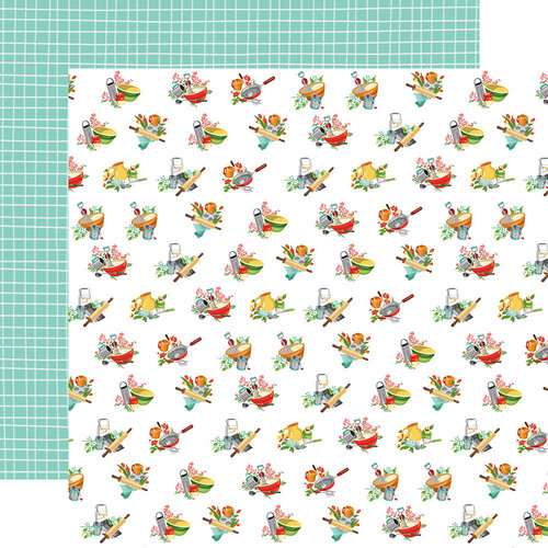 Carta Bella Paper - Farm To Table Collection - 12 x 12 Double Sided Paper - Floured Flowers