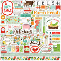 Carta Bella Paper - Farm To Table Collection - 12 x 12 Cardstock Stickers - Elements