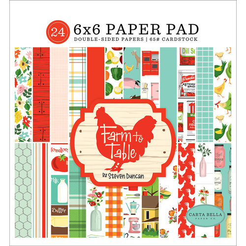 Carta Bella Paper - Farm To Table Collection - 6 x 6 Paper Pad