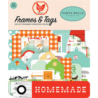Carta Bella Paper - Farm To Table Collection - Ephemera - Frames and Tags