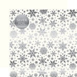 Carta Bella Paper - Winter Wonderland Silver Foil Collection - 12 x 12 Double Sided Paper - White