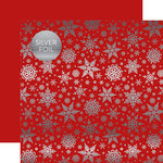 Carta Bella Paper - Winter Wonderland Silver Foil Collection - 12 x 12 Double Sided Paper - Red