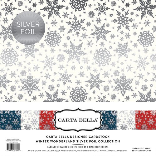 Carta Bella Paper - Winter Wonderland Silver Foil Collection - 12 x 12 Collection Kit