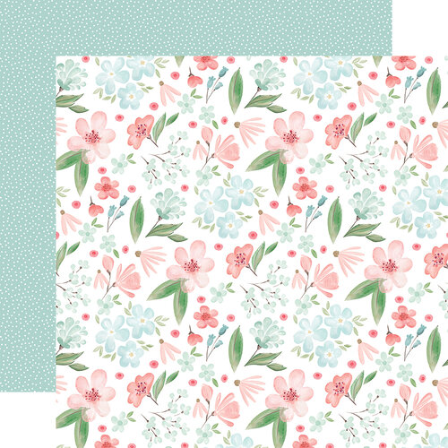 Carta Bella Paper - Flower Garden Collection - 12 x 12 - Double Sided Paper - Lovely Floral