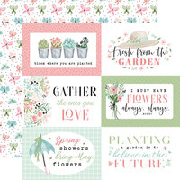 Carta Bella Paper - Flower Garden Collection - 12 x 12 - Double Sided Paper - 6 x 4 Journaling Cards