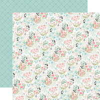 Carta Bella Paper - Flower Garden Collection - 12 x 12 - Double Sided Paper - Bloom and Grow