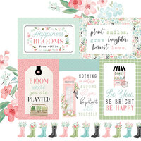 Carta Bella Paper - Flower Garden Collection - 12 x 12 - Double Sided Paper - Multi Journaling Cards