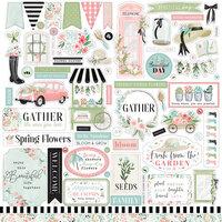 Carta Bella Paper - Flower Garden Collection - 12 x 12 Cardstock Stickers - Elements