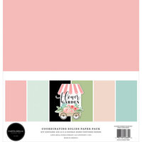 Carta Bella Paper - Flower Garden Collection - 12 x 12 Paper Pack - Solids