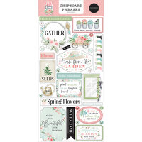 Carta Bella Paper - Flower Garden Collection - Chipboard Embellishments - Phrases