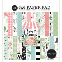 Carta Bella Paper - Flower Garden Collection - 6 x 6 Paper Pad