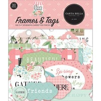 Carta Bella Paper - Flower Garden Collection - Ephemera - Frames and Tags
