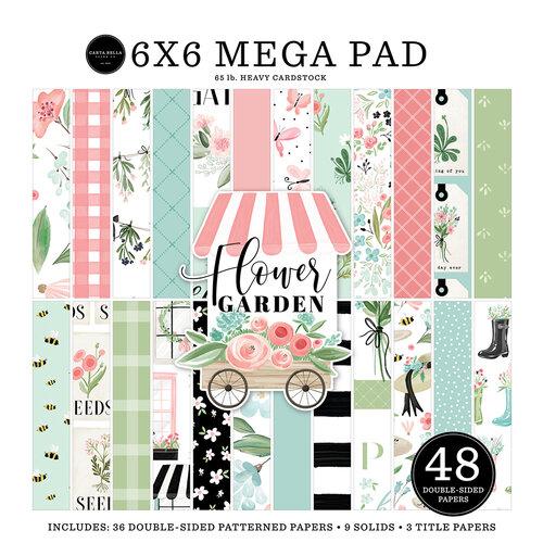 Carta Bella Paper - Flower Garden Collection - 6 x 6 Mega Paper Pad