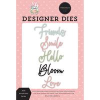 Carta Bella Paper - Flower Garden Collection - Designer Dies - Hello Friends Words
