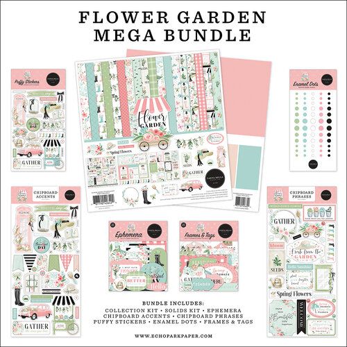 Carta Bella Paper - Flower Garden Collection - Mega Bundle