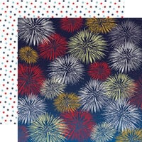 Carta Bella Paper - God Bless America Collection - 12 x 12 Double Sided Paper - Firework Fiesta
