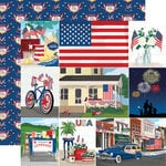 Carta Bella Paper - God Bless America Collection - 12 x 12 Double Sided Paper - Multi Journaling Cards