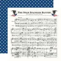 Carta Bella Paper - God Bless America Collection - 12 x 12 Double Sided Paper - Star Spangled Banner