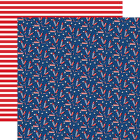 Carta Bella Paper - God Bless America Collection - 12 x 12 Double Sided Paper - Firecracker Fun
