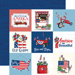 Carta Bella Paper - God Bless America Collection - 12 x 12 Double Sided Paper - 4 x 4 Journaling Cards