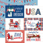 Carta Bella Paper - God Bless America Collection - 12 x 12 Double Sided Paper - 6 x 4 Journaling Cards
