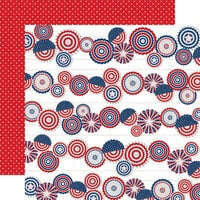 Carta Bella Paper - God Bless America Collection - 12 x 12 Double Sided Paper - Fanfare