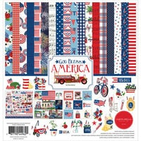 Carta Bella Paper - God Bless America Collection - 12 x 12 Collection Kit