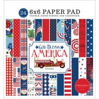 Carta Bella Paper - God Bless America Collection - 6 x 6 Paper Pad