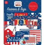 Carta Bella Paper - God Bless America Collection - Ephemera - Frames and Tags