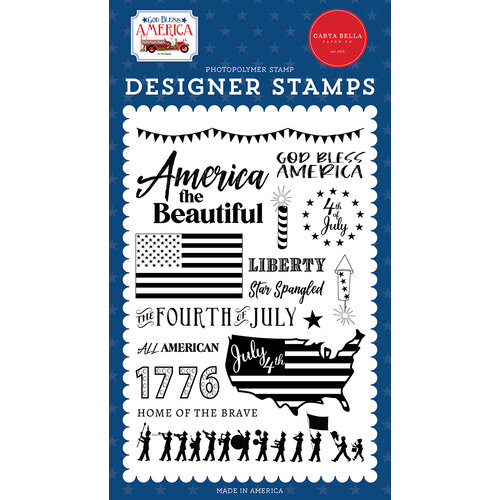 Carta Bella Paper - God Bless America Collection - Clear Photopolymer Stamps - God Bless America