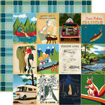 Carta Bella Paper - Gone Camping Collection - 12 x 12 Double Sided Paper - 3 x 4 Journaling Cards