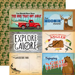 Carta Bella Paper - Gone Camping Collection - 12 x 12 Double Sided Paper - 4 x 6 Journaling Cards