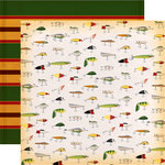 Carta Bella Paper - Gone Camping Collection - 12 x 12 Double Sided Paper - Fly Fishing
