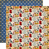 Carta Bella Paper - Gone Camping Collection - 12 x 12 Double Sided Paper - Gearing Up