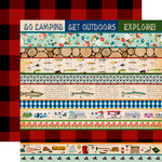 Carta Bella Paper - Gone Camping Collection - 12 x 12 Double Sided Paper - Border Strips