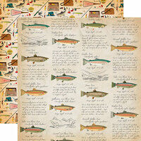 Carta Bella Paper - Gone Camping Collection - 12 x 12 Double Sided Paper - Fish Facts