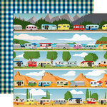 Carta Bella Paper - Gone Camping Collection - 12 x 12 Double Sided Paper - Happy Campers
