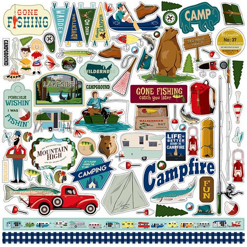 Carta Bella Paper - Gone Camping Collection - 12 x 12 Cardstock Stickers - Elements